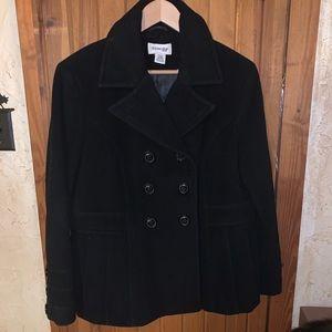 St Johns Bay black Pea Coat petite